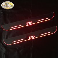 Wholesale pedal car for sale - Group buy SNCN Waterproof Acrylic Moving LED Welcome Pedal Car Scuff Plate Pedal Door Sill Pathway Light For I30