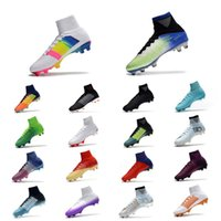 Wholesale cr7 shoes sale resale online - Sale Top Quality CR7 Hots Football Boots Mercurial Superfly V AG FG Soccer Shoes Mens Outdoor Soccer Cleats