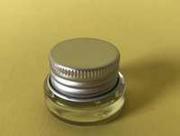 Wholesale 3g cosmetic resale online - 360 x Travel G Mini glass skin eye cream make up jar with aluminum lid white pe pad CC cosmetic container packaging glass jar SN2751