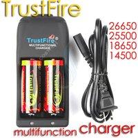 vertrauenswürdiges feuerladegerät großhandel-Trustfire Ladegerät Trust Fire TR-006 multifunktionale wiederaufladbare Ladung für Mods 26650 25500 18650 14500 18500 16340 Li-Ion-Akku schützen