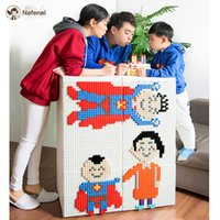 Wholesale baby clothes storage boxes for sale - Group buy DIY Building Blocks drawer organizer with wheel plastic container help baby storage toy box and clothes storage box for