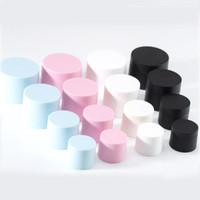tapas de tarro rosa al por mayor-5G 15G 20G 30G PP crema cosmética tarros con las botellas de embalaje de la tapa del envase vacío Loción alta calidad Negro Azul Rosa Blanco