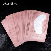 ingrosso up sotto-100 paia / lotto Pink Women Under Eye Pads Patches Estensione ciglia Eye Lash Paper Stickers Patches Applicazione Make Up Tools