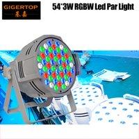 Wholesale led lights 54 bulb resale online - TIPTOP Pack TP P54C W LED Flat Par Lights RGBW Lamp for Club DJ Party Stage DMX512 Control Casting Aluminum White Housing ROHS