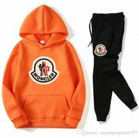 bayanlar hoodies terlemeleri toptan satış-Marka Eşofman Günlük Moda bahar Sonbahar Uzun kollu İki parçalı Jogger Seti Bayanlar Eşofman spor Koşu Hoodies + pantolon Güz mens