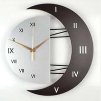 relojes de pared modernos al por mayor-Personalidad nórdica reloj de pared moderno tamaño grande mute scan movimiento reloj de pared sala de estar dormitorio reloj pared decoración