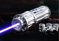 ingrosso laser blu leggero potente-La migliore promozione militare più potente La potente penna laser 10000m con puntatore laser blu 450nm Beam 5 Star Caps Light A Hunting