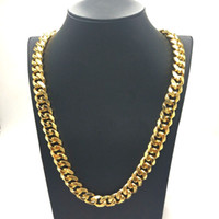 Wholesale thick gold chain wholesale for sale - New fashion personality large thick men s gold necklace stainless steel chain jewelry gift necklace mm