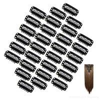 saç uzatma için metal klips toptan satış-Yeni U Şekli Yapış Metal Klipler Profesyonel Saç Araçları DIY Saç Uzantıları Için Klip Paslanmaz Çelik Peruk Klipler