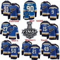 tyler bozak jersey großhandel-2019 Stanley Cup Finale Patch St. Louis Blues Hockey Trikots Ivan Barbashev Sammy Blais Tyler Bozak Robby Fabbri Anpassen