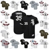 Wholesale blank green baseball jersey for sale - Group buy Mens Women Youth White Sox Jersey Frank Thomas Jersey Home Road White Green Salute to Service Collection Blank Baseball Jerseys