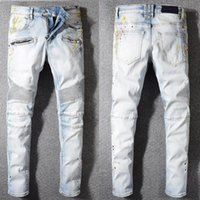 pantalones vaqueros de marca al aire libre al por mayor-Tide brand designer mens pants modelos de explosión fashion wild man jeans outdoor luxury boutique men quality student jeans