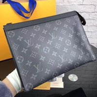 Wholesale New Arrival Brand Clutch Bags Men Top Quality V Monogram Business Handbags Genuine Leather Hand Bags for Men