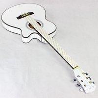 белые гитарные струны оптовых-40 дюймов Ультратонкий гитарный корпус для бочек Белая баллада Этюд Укулеле Недостающий угол Музыкальные инструменты Туба Six Strings 215cyb1