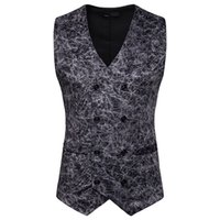 Wholesale men leopard vest for sale - Group buy Mens Black Double Breasted Vest Sexy Leopard Print Suit Vest Men Slim Fit Nightclub Casual Waistcoat Chalecos Para Hombre