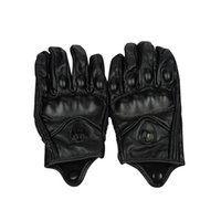Wholesale gloves motorcycle leather glove for sale - Group buy Factory direct black leather men and women motorcycle gloves racing gloves can touch screen ICON can be customized
