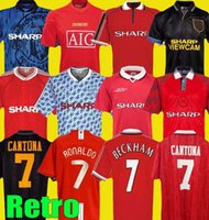Wholesale Man Manchester Retro United Soccer Jersey utd RONALDO BECKHAM CANTONA KEANE SCHOLES GIGGS FOOTBALL SHIRT