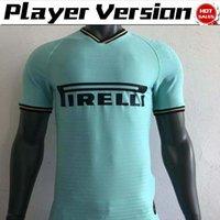soccer 14 도매-플레이어 버전 2020 Inter away green Soccer Jersey # 9 LUKAKU # 14 NAINGGOLAN 축구 셔츠 19/20 축구 유니폼 짧은 소매 사용자 정의