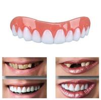ingrosso classico di topper-CALDO Perfect Smile Immediata Comfort Fit Flex sbiancamento dei denti protesi dentaria Incolla falsi denti superiori estetica del dente falso coperchio dello strumento di bellezza Protesi