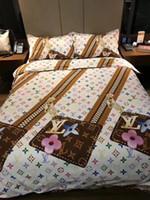 ingrosso biancheria con cerniera-Set di biancheria da letto con cerniera Design creativo Europa e America Set di biancheria da letto Completo di copripiumino in cotone da 4 pezzi