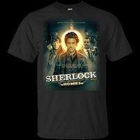 Wholesale posters women for sale - Group buy Sherlock Homies Holmes Posters Print T Shirt Black Navy Men Women Light Tee Shirt