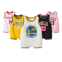 Wholesale new baby fashion clothes resale online - Fashion Sport Children Summer Comfortable Football Jumpsuits Rompers Bodysuit Pure Cotton Boys New Born Infant Baby Clothes Child Jumpsuits