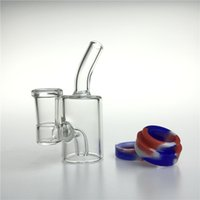 Wholesale silicone water pipes resale online - New Inch mm Female Glass Bong with ML Silicone Bottom Container Reclaimer Thick Heady Recycler Glass Water Bongs Beaker Water Pipes