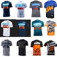 jersey mx mtb al por mayor-Camiseta de manga corta para motocicleta KTM para hombres Jersey de manga corta Línea aérea Motocross DH Downhill MX MTB Transpirable Off-Road XXL