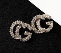 Wholesale gold alphabet letters for sale - Group buy Fashion New G Letter Luxury Designer Earrings S925 Silver Needle G Stud Earring Jewelry with Pearl Crystal