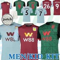 villa soccer al por mayor-19 20 Aston Villa camisetas de fútbol WESLEY Grealish Kodja EL GHAZI CHESTER McGinn 2019 2020 distancia terceras camisetas de juego de los hombres para niños
