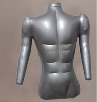 Wholesale inflatable mannequin doll for sale - Group buy cm sexy Jewelry Stand Thicker section inflatable doll mannequins body male model bust with hands maniquis para ropa PC M00039