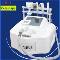 velashape ausrüstung großhandel-Velashape Maschine Gewichtsverlust Velashape Infrarot Laser Hautverjüngung Vakuumwalze Körper abnehmen Maschinen verwendet Spa-Geräte