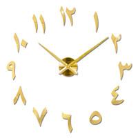 cuadrantes de reloj redondo al por mayor-1pc Dial Clock Fashion Large Creative Wall Clock Round Silent Decorativo para Office Hotel Home Restaurant