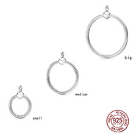 Wholesale 925 sterling small pendant for sale - Group buy 100 Sterling Silver Moments Large O Pendant Medium O Necklaces Small O Charm European Women Fashion Jewelry Gift