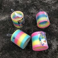 ingrosso vendite di giocattoli adulti-Grande arcobaleno cerchio adulto classico stallo giocattolo vendita calda merci Qixing magico anello di plastica per bambini molla Jenga