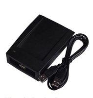 ingrosso controllo di accesso 125khz rfid-200sets / Lotto ID-USB EM4100 Lettore RFID Interfaccia USB Lettore RFID 125KHZ 0-8 cm Distanza di lettura Frsit 10numbers Nave veloce per controllo accessi
