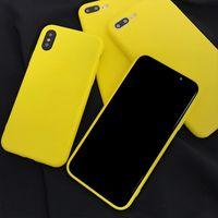 ingrosso telefoni cellulari a colori gialli-Custodia rigida in TPU color giallo limone per iPhone 6 6S 7 8 Plus giallo caramello Custodia morbida protettiva all-inclusive per iPhone X XS XR XS Max