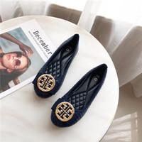 schöne koreanische frauen großhandel-Große Größe einzelne Schuhe fallen 2019 neue koreanische retro Britische Gehäkelte flach mit flachen Bohnen schöne Frauenschuhe