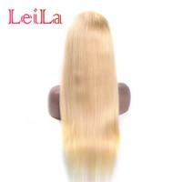 1b cabelo humano loiro venda por atacado-150% densidade peruano 613 loira peruca cheia do laço do cabelo humano rendas frente perucas pré beliscadas 1b / 613 brasileiro virgem Perucas para as mulheres negras
