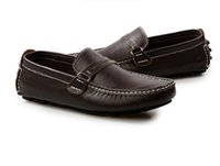 ingrosso fibbia in barca-Scarpe da uomo Mocassini da uomo in vera pelle Made in Italy Italian Metal Letter Buckle Slip On Boat Shoes