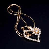 ingrosso bling collane di nozze-Collana a forma di cuore a forma di cuore a forma di cuore per donna