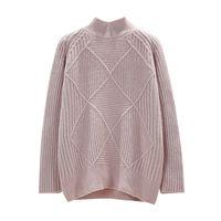 зимние свитера для свитера для женщин оптовых-New Fashion 2018 Women Autumn Winter Embroidery  Sweater Pullovers Warm Knitted Sweaters Pullover Lady