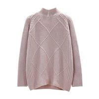 nuevas camisetas de marca al por mayor-Nueva Moda 2018 Mujeres Otoño Invierno Bordado Marca Suéter Jerseys Suéteres de Punto Cálido Suéter Señora