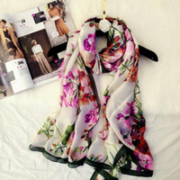Wholesale beach oversized scarves for sale - Group buy Europe and the United States big brand silk scarf women spring and summer seaside travel sunscreen oversized shawl wild beach towel
