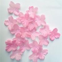 favores de cereza al por mayor-300pcs Cherry Hydrangea Blossom Rose Flowers Petals Wedding Petals Fake Artificial Flower Silk Flowers Home Wedding Decor Favors