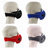 Wholesale anti fog dust mask resale online - Anti fog dust mask outdoor riding bicycle protective mask ski half face mask filter colors LJJZ490