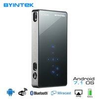 laser android großhandel-BYINTEK UFO P8I Pico Pocket HD für Android 7.1. Tragbarer MicroLaser WIFI Bluetooth Mini LED DLP Projektor mit Akku HDMI USB
