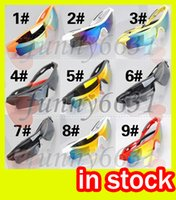 Wholesale wholesale sunglasses online - summer newest style Only SUN glasses colors sunglasses men Bicycle Glass NICE sports sunglasses Dazzle colour glasses A