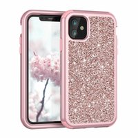 Wholesale armor defender case for sale – best Luxury Sparkle Defender Case For Samsung Note S10 S10e Iphone Pro Max Bling Glitter Armor Hybrid Hard PC TPU Shockproof Rugged Covers