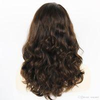 cabelo humano peruca kosher venda por atacado-24 Polegadas Ondulado Kosher Perucas Raw Cabelo Humano Russo Shevy Cap Peruca Judaica com Top De Seda Não Rendas Peruca